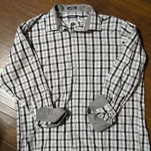 Men's Chaps plaid XL 17 1/2 34/35 dress shirt